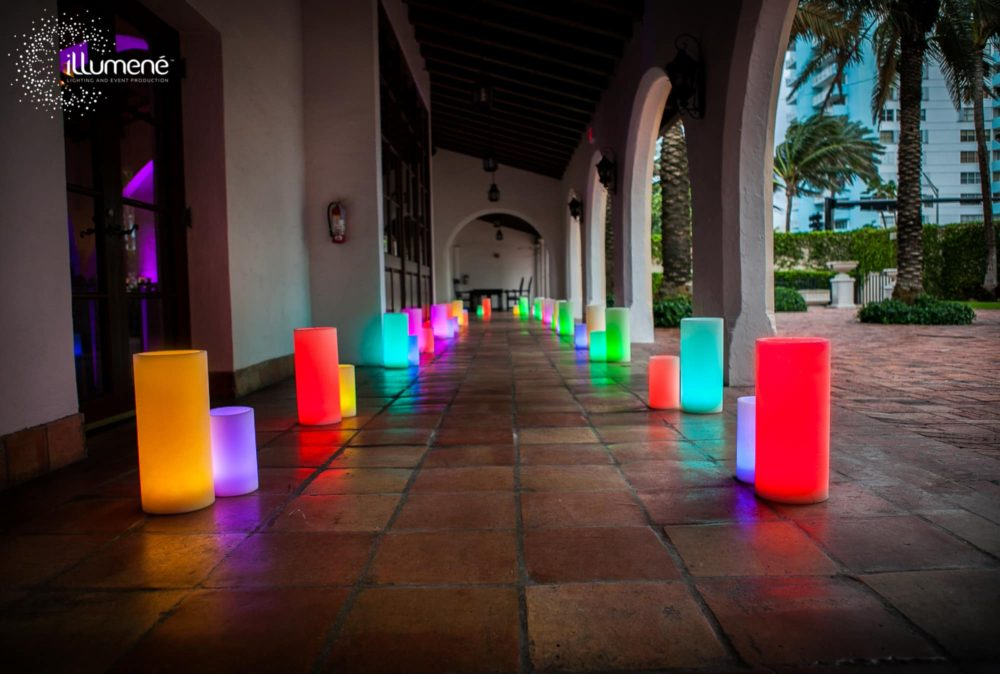 rent LED large candles wax luminaries