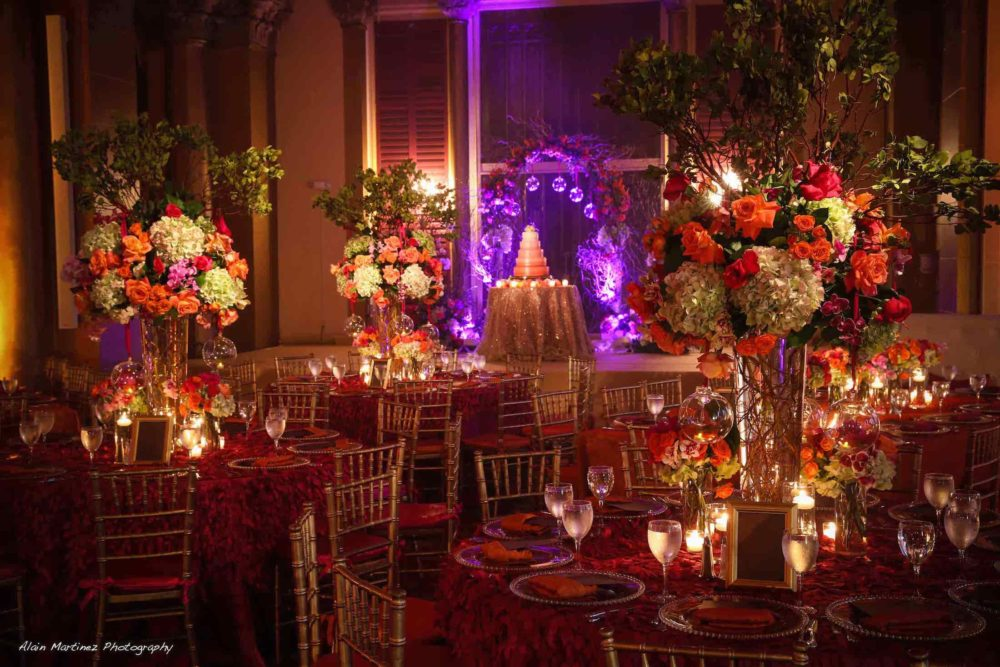 rent wedding pinspot lighting Boca Raton Resort and Club
