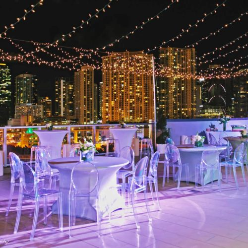 string lights mini lights rent Miami Palm Beach Fort Lauderdale