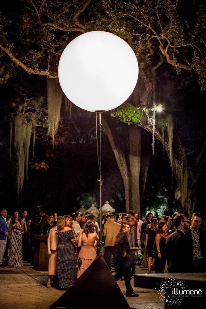Airstar crystal lunix moon balloon Miami rental