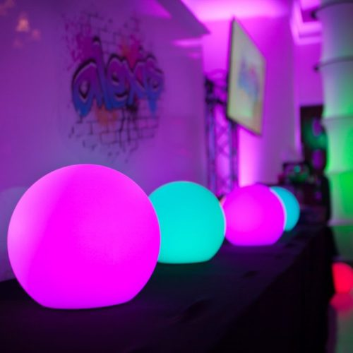 Bat mitzvah LED glow spheres color changing LED glow balls