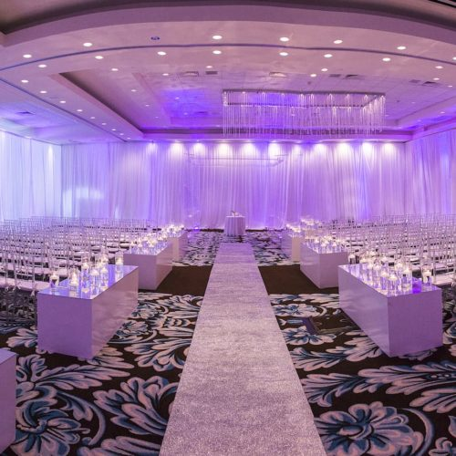 Fabric and wall draping wedding Fontainebleau Miami Beach
