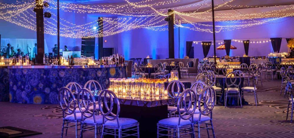 Fontainebleau lighting blue mini lights twinkle lights christmas lights