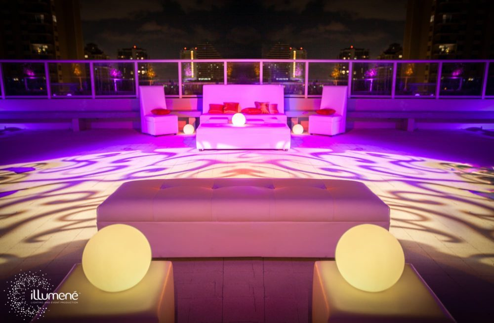 LED Light balls LED light sphere gobo patterns The W Hotel Fort Lauderdale