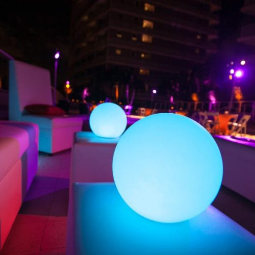 LED Floating ball LED floating Sphere LED Light Pool Ball corporate party Miami