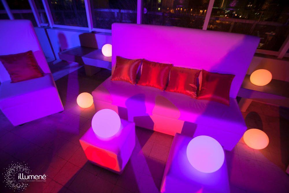 LED Floating balls LED floating Spheres LED Light Balls outdoor decor Fort Lauderdale Palm Beach