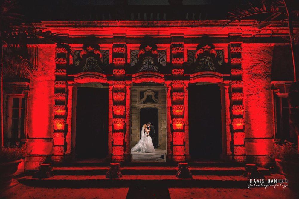 Vizcaya celebrity wedding ceremony red