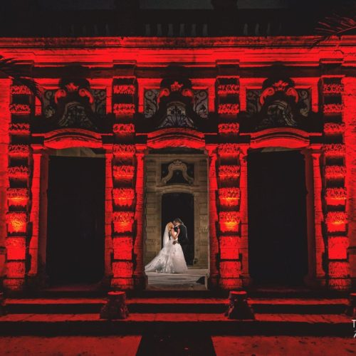 Vizcaya celebrity wedding ceremony red