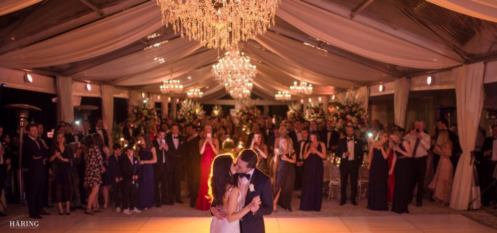 Vizcaya wedding chandeliers luxury event Miami lighting