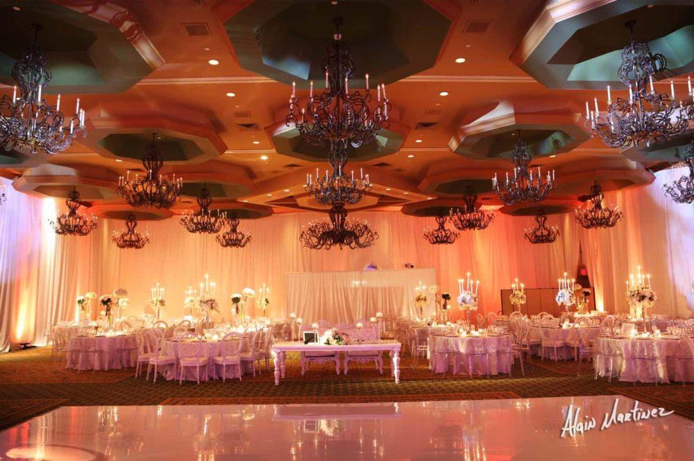 Wedding draping Miami pipe and drape