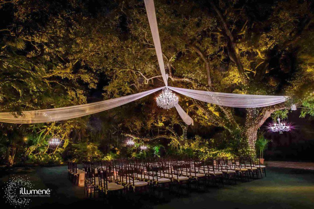 Fabric swags, wedding draping Miami company