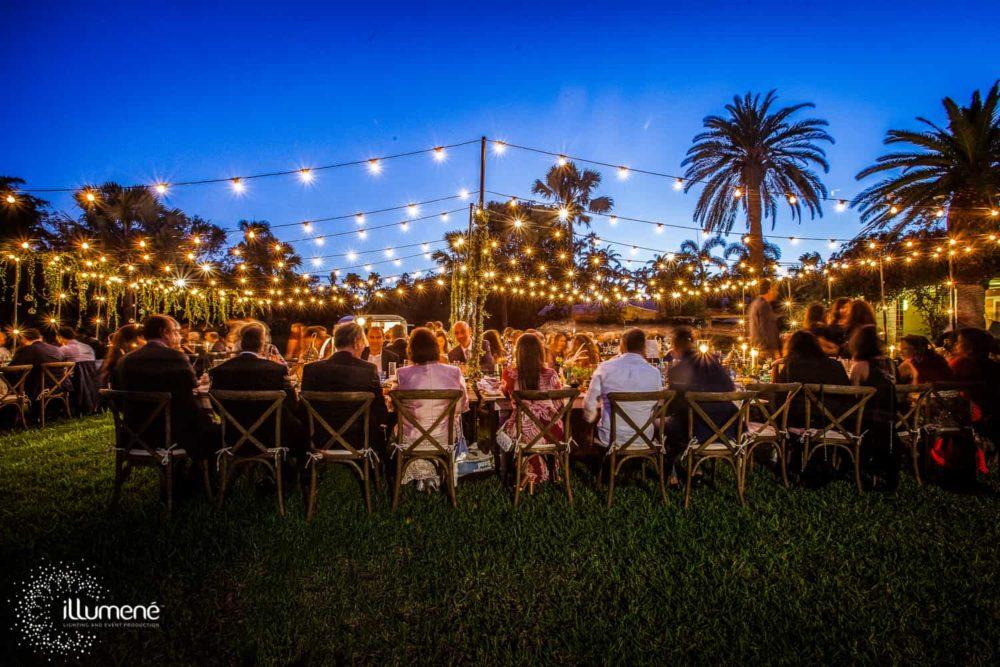 Fairchild Tropical Botanic Garden bistro lights twinkle lights mini lights rent