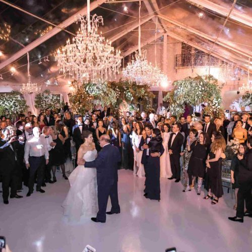 Fisher Island Miami wedding lighting and production AV services South Florida