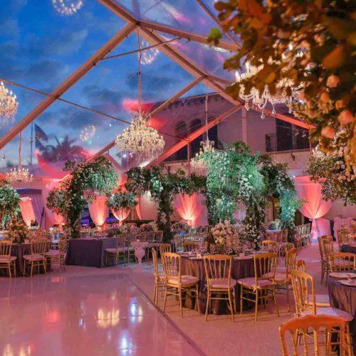 Fisher Island wedding lighting South Florida