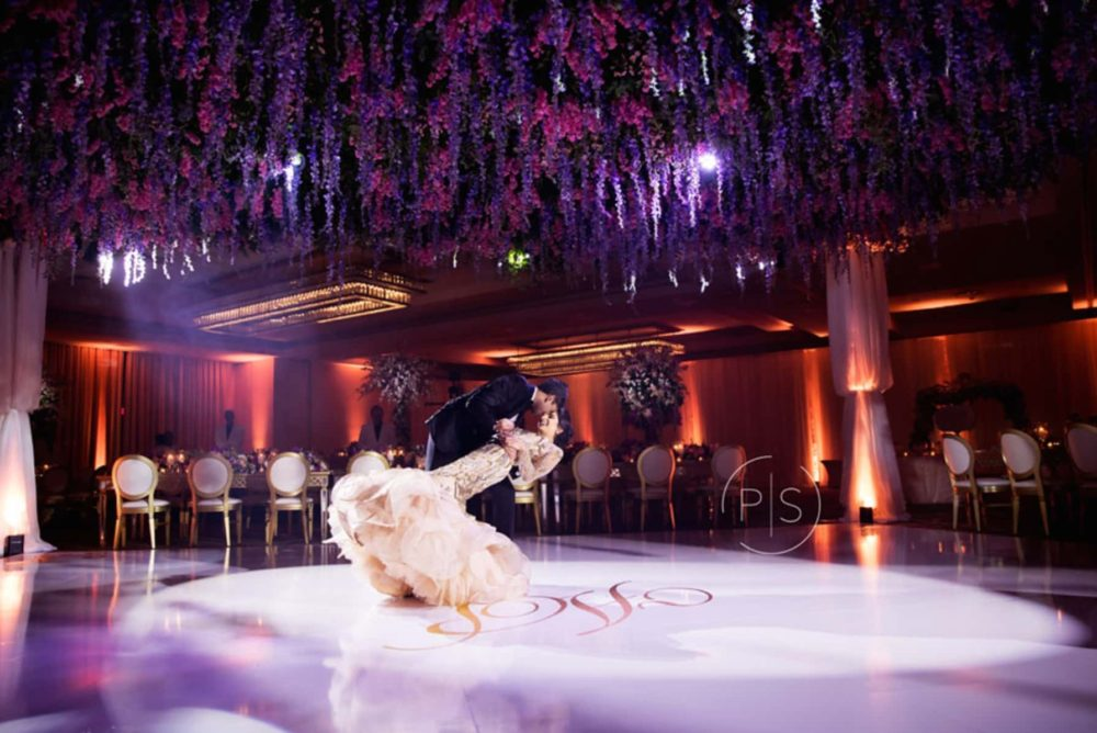 Fontainebleau Miami luxury wedding lighting audio visual