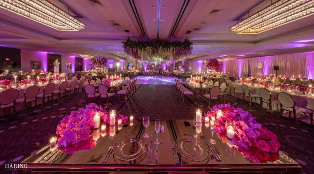 Fontainebleau wedding Indian reception