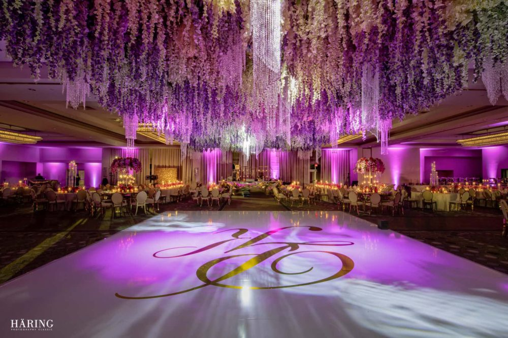 Fontainebleau wedding luxury Indian reception Miami lighting company