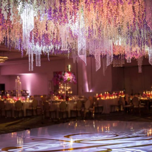 Indian wedding at Fontainebleau Miami Beach gobo lighting dancefloor
