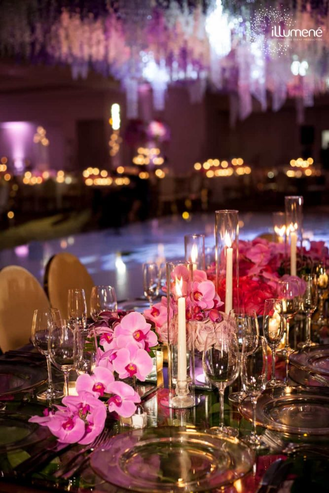Indian wedding reception at Fontainebleau Miami Beach