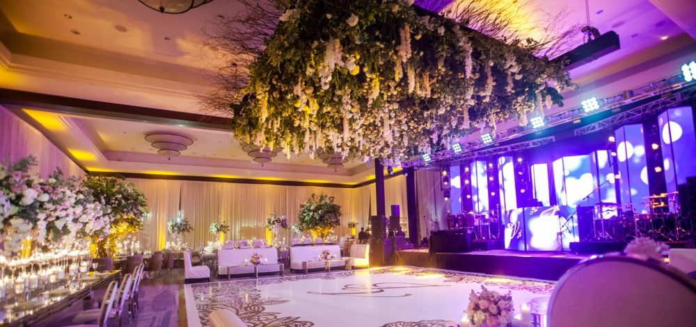 Mandarin Oriental wedding lighting event production music sound
