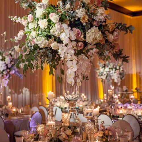 Mandarin Oriental wedding ceremony lighting event production music sound centerpieces lighting