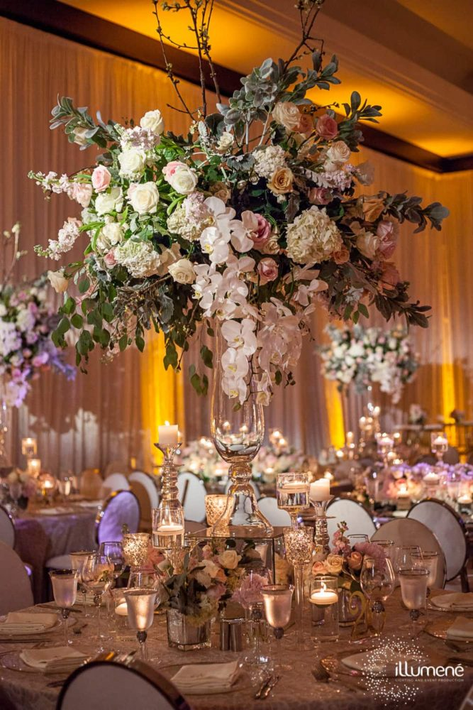 Mandarin Oriental wedding ceremony lighting event production music sound centerpieces lighting