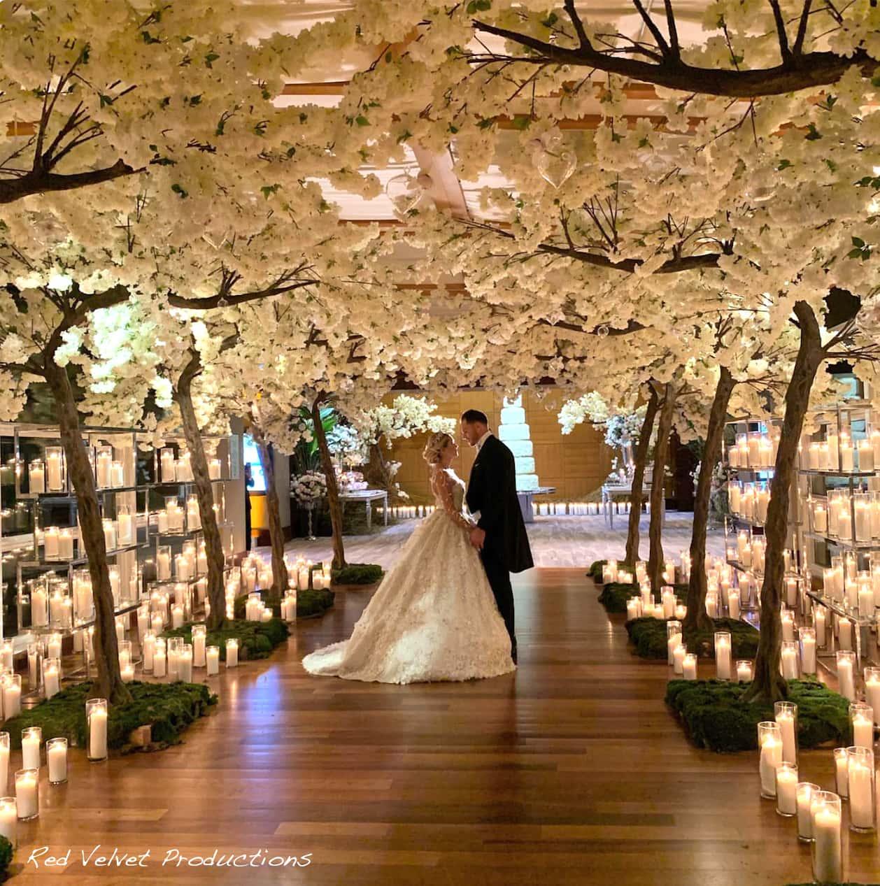 Mandarin Oriental Wedding Ceremony Lighting Event