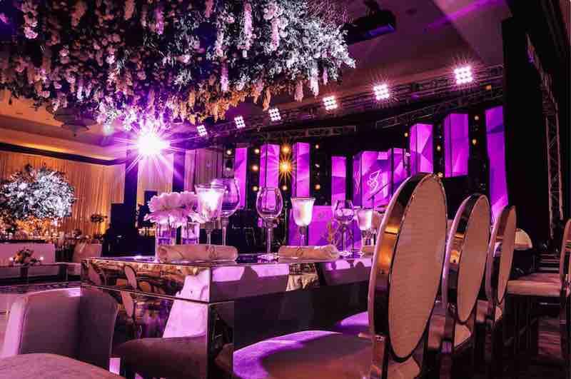 Mandarin Oriental wedding lighting event production music sound lighting company South Florida