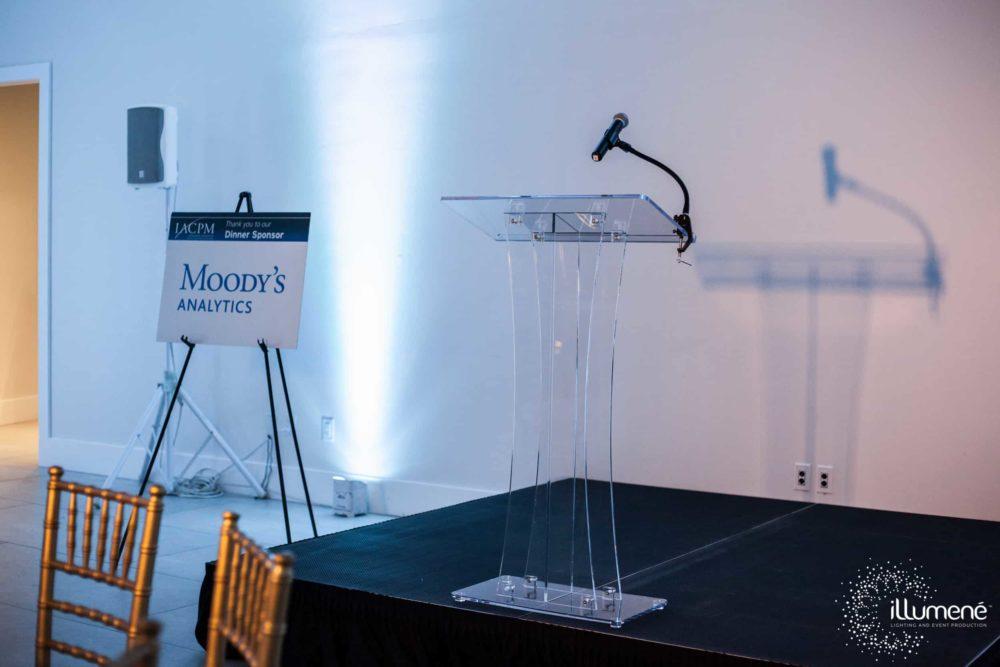 Rent acrylic podium Miami Palm Beach Fort Lauderdale