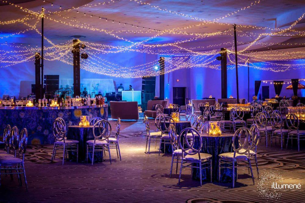 Sangeet Fontainebleau Miami Beach Indian wedding twinkle lights