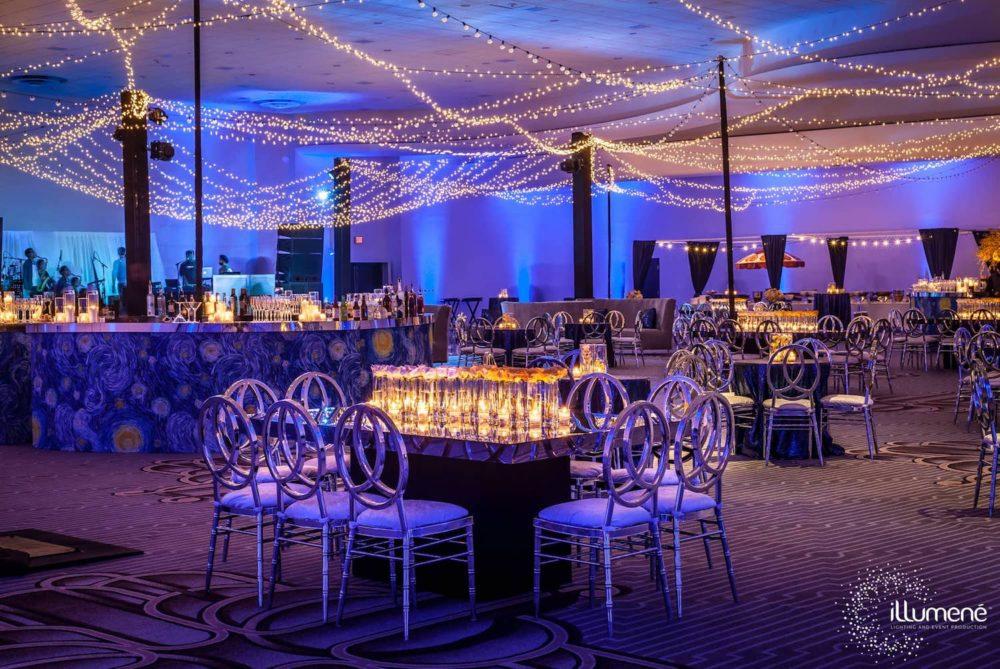 Sangeet Fontainebleau Miami Beach Indian wedding twinkle lights ILLUMENE