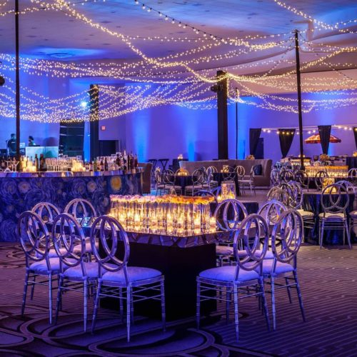 Sangeet Fontainebleau Miami Beach Indian wedding twinkle lights ILLUMENE