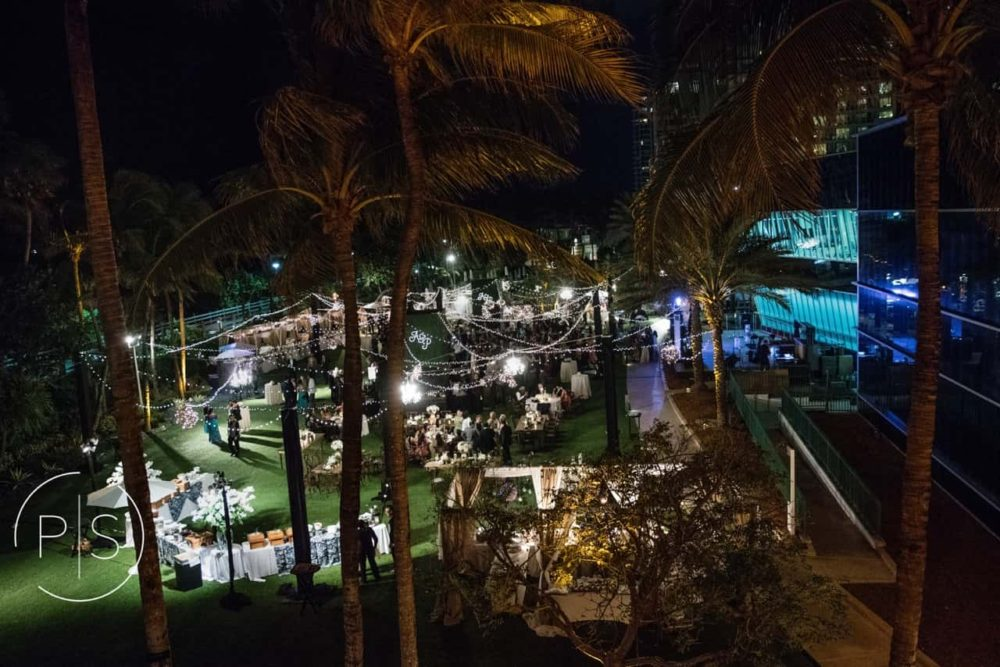 Sangeet at Fontainebleau Miami Beach string lights cafe lights bistro lights twinkle lights