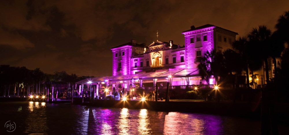 Vizcaya Museum and Gardens wedding event lighting