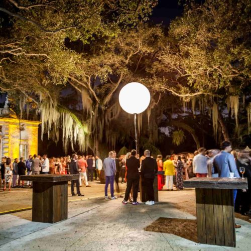 Vizcaya Museum corporate event product launch airstar moon balloon