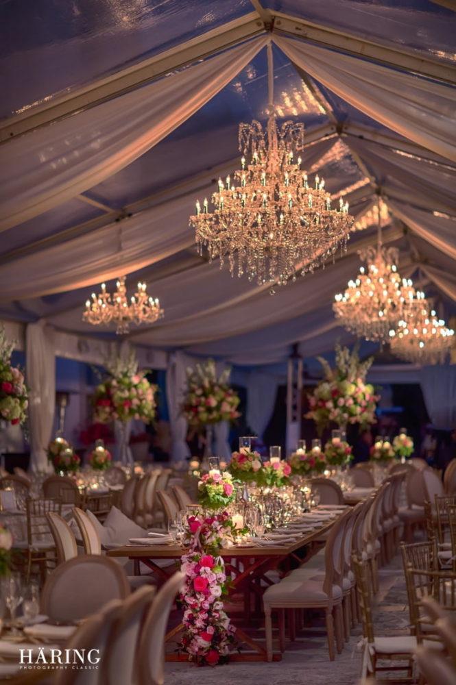 Vizcaya gardens wedding Miami chandeliers