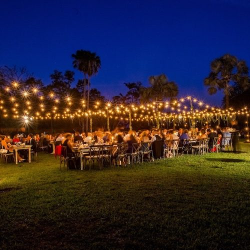 rent string lights Fairchild Tropical Botanic Garden Miami event production