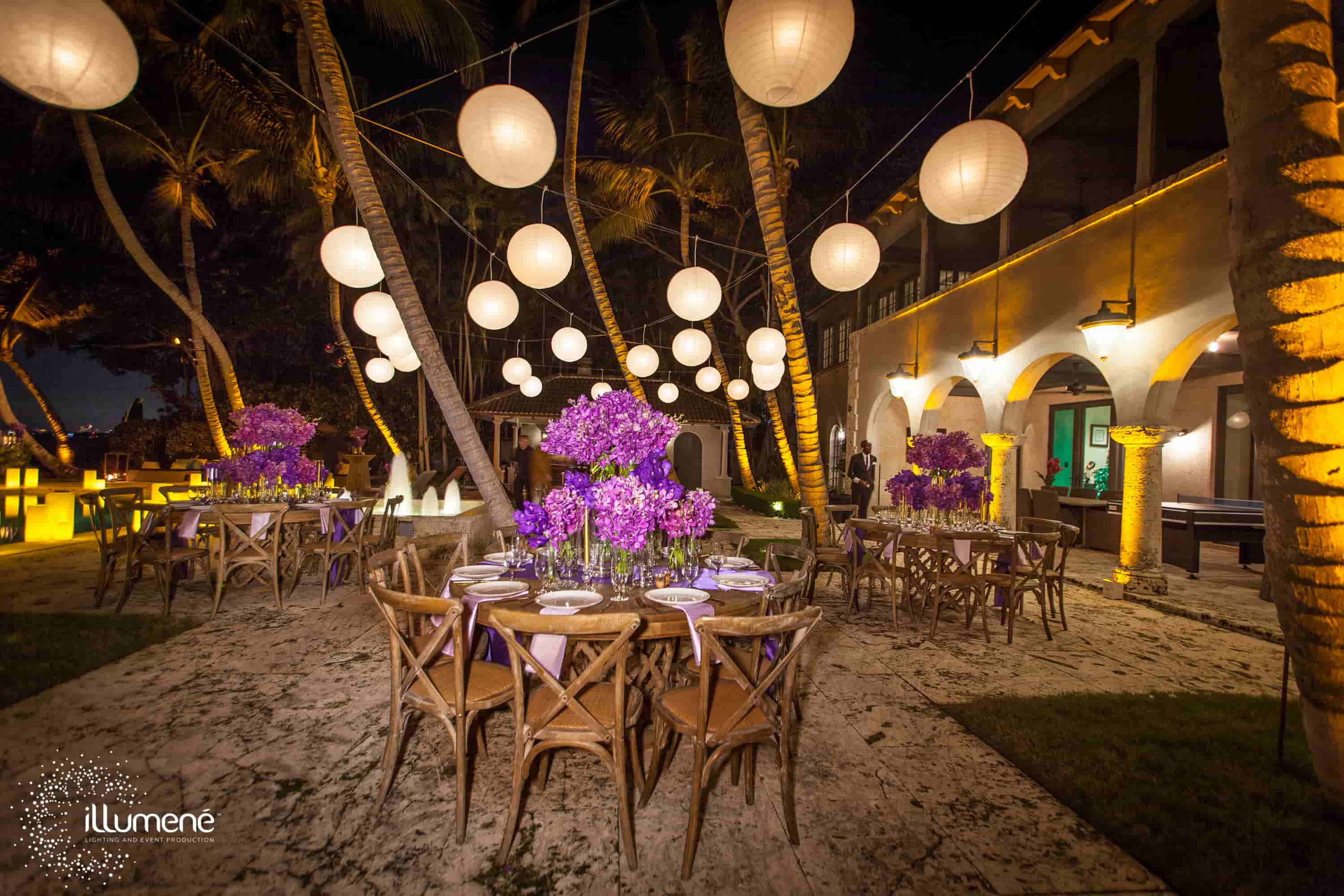 New Year party paper lanterns Miami