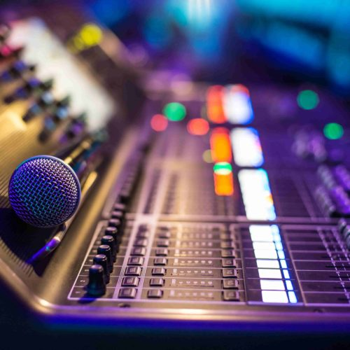 Audio visual rental microphone sound mixer rental Miami