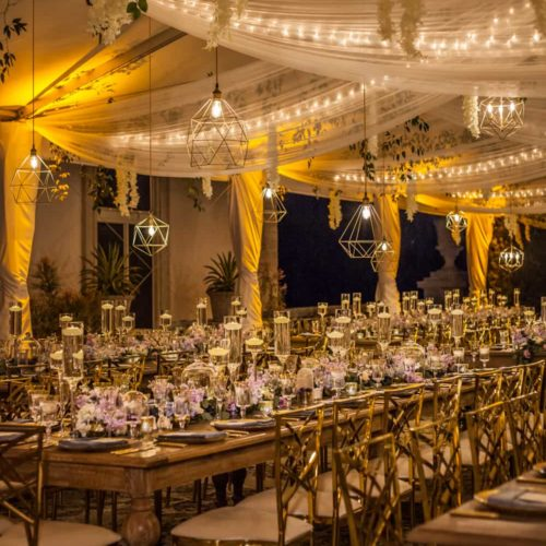 Pendant lights and suspended decor tent lighting Miami