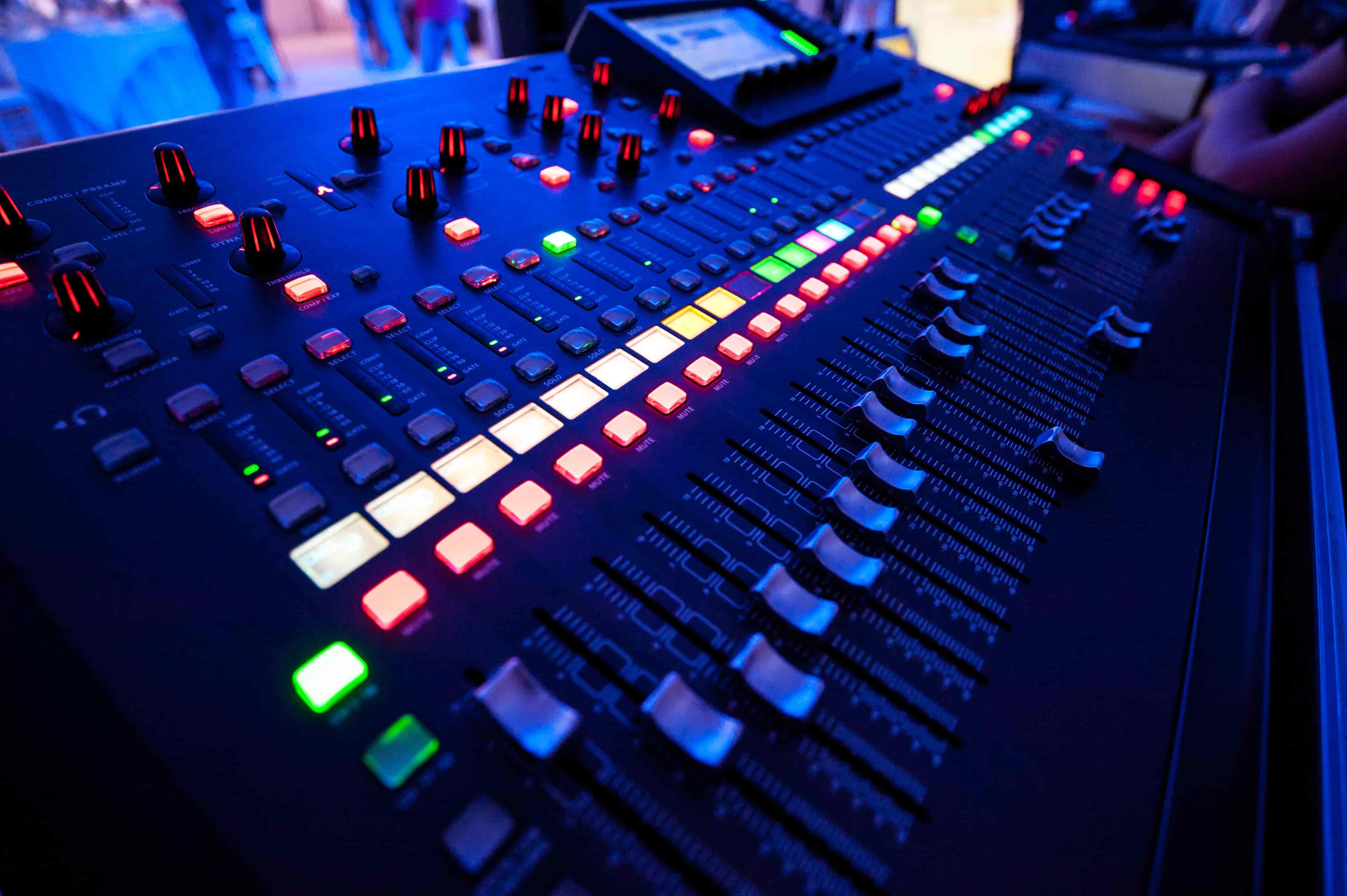 audio visual rental mixer Miami